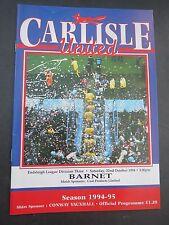 Carlisle V Barnet 1994/5