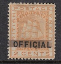 SG 140 British Guiana 1878 2 cent orange official - mounted mint