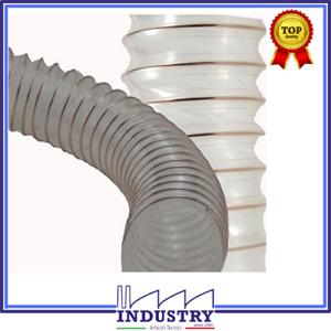 TUBO flex aspirazione poliuretano con spirale in acciaio ramato  diam.100mm