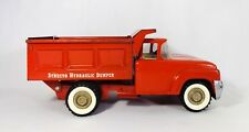 VINTAGE MID-20TH CENT STRUCTO PRESSED STEEL RED FORD HYDRAULIC DUMP TRUCK W/GATE