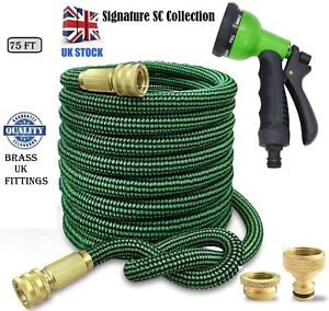 75 ft expandable Stretchable Extendable Flexible Garden Hose pipe kink free