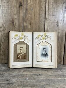 Antique 19th Century CDV Portrait Album Of Young Victorian Boys.