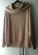 Isle 100% Cashmere Light Caramel Cowl Neck Jumper Size XL (12-14) Autumn BNWOT