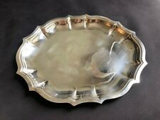 International Silver Co Oval Tray  Chippendale Pattern #6342