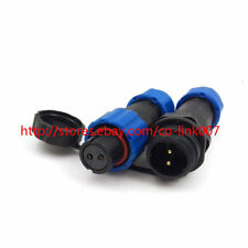SD13 2-pin Waterproof Connector IP68 Automotive Aviation connector Male & Female