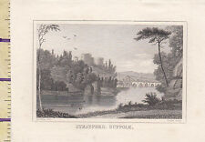 C1815 Antico Piccolo Georgiano Stampa ~ Stratford Macchine Suffolk