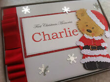 Personalised 1st Christmas Memory Book.Second Third Fourth Christmas Photo Album