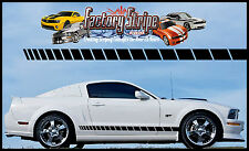 FORD MUSTANG STROBE ROCKER PANEL SIDE DECAL FACTORY STRIPE 2005-2013