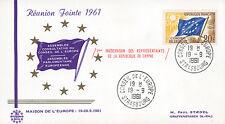 """RJ3 FDC Conseil de l'Europe """"Réunion Jointe / 1ère Participation Chypre"""" 09-1961"""