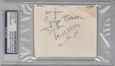BEATLES All 4 Signed Cut Slabbed PSA/DNA Lennon, McCartney, Harrison & Starr