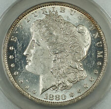 1880-O Morgan Silver Dollar $1, ANACS MS-60 Details Cleaned, SPL Very Attractive