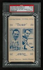 PSA 3 LEN HUTTON & DUKE CAMPBELL 1949 Turf Cigarette Card COMPLETE WITH TABS