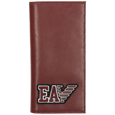 EMPORIO ARMANI MEN'S WALLET LEATHER COIN CASE HOLDER PURSE CARD BIFOLD RED 5C4
