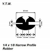 30 M x Impianto//Trattore vetri claytonrite Gomma Nero 1//4 x 1//8 * narrow fit