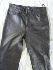 Gap EUC brown genuine leather rock star bootfit bootcut pants jeans 31L 31 31