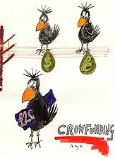 """Card: """"Crow Goes CrowdFunding"""" Where's the D #PeterBrighouseIllustrator #corvid"""