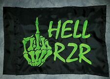 Custom HELL RZR SKELETON HAND safety Flag for ATV UTV Bike Jeep Dune Whip Pole
