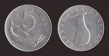 5 LIRE 1951 DELFINO E TIMONE - ITALIA