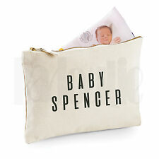Personalised Baby Nappy Pouch/ Mini Changing Bag- GIFT FOR NEW BABY    [#SPBLAL]