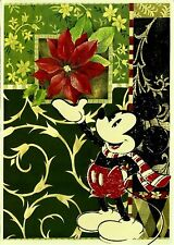 Mickey Mouse, Vintage Die Cut Christmas Card, BRAND NEW, Disney Licenced