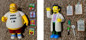 Playmates The Simpsons Figure Lot - Dr. Nick Riviera + Comic Book Guy RARE!