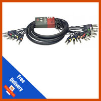 """3m 16x 6.35mm 1/4"""" Mono Jack to 8 x 6.35mm Stereo Jacks   Patch Multicore Cable"""