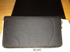 New MONTBLANC Starisma Pamina Black 8CC Long Clutch Wallet Fabric Coin 106081