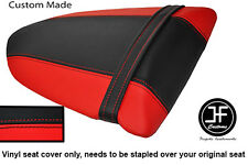 RED & BLACK VINYL CUSTOM FITS KAWASAKI NINJA ZX6R 600 05-06 REAR SEAT COVER ONLY