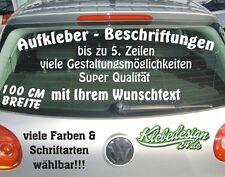 Bis 5 Zeilen 100cm Aufkleber Beschriftung Werbung Sticker Heckscheibe Lack KFZ