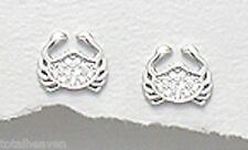 Sterling Silver 8mm Brilliant Crab Stud Earrings + Premium Heavy Duty Backs 1g