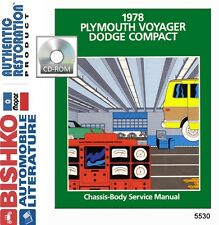 1978 Plymouth Voyager Shop Service Repair Manual CD Engine Drivetrain Electrical