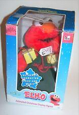 Vintage 1998 Sesame Street Elmo Animated Christmas Display Figure in Box