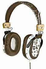 Skullcandy AGENT White Brown Driver 40mm Over Ear Headphones Smart and Ditzy DJ