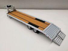 GREENLIGHT GOOSENECK flat deck bed trailer 1/64 scale farm EQUIPMENT hitch & tow