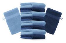 Betz 10er Pack Waschhandschuhe PREMIUM Farbe:Dunkelblau & Hellblau Gr:17x21 cm