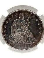 1855-O Seated Liberty Half Dollar(50c) Arrows NGC AU Details *Cleaned* Toned.