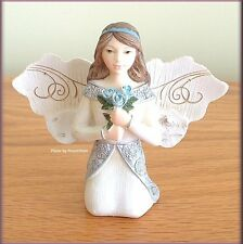 "MARCH MONTHLY ANGEL FIGURINE 3"" HIGH BY PAVILION ELEMENTS FREE U.S. SHIPPING"