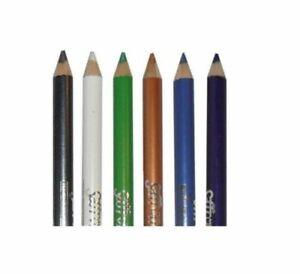 Saffron Metallic Waterproof Eye Pencil  BROWN BLUE WHITE BLACK GOLD SILVER