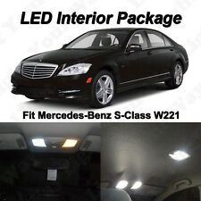 16 x Xenon White SMD LED Lights Interior Package For Mercedes Benz S-CLASS W221