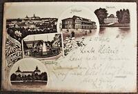 AK Gruss aus Gotha Schloss Friedenstein Schlossberg Hofheater gel. 1897