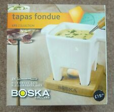 BOSKA TAPAS FONDUE SET OAK FROM THE LIFE COLLECTION