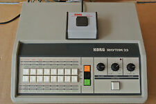 1979 KORG KR-33 KR RHYTHM 33 ANALOG DRUM MACHINE BEAT BOX + S-1 FOOT SWITCH A159
