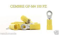 * Capicorda CEMBRE preisolati giallo in pvc a occhielli vite 4mm GF-M4 100 PZ