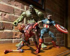 2007 Marvel Zombies Set Hulk Spider-Man Captain America Figures select legends