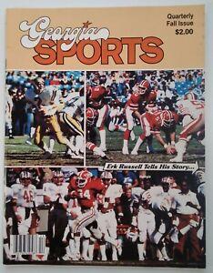 Georgia Sports Football Mag Vtg 1981 Rare VHTF UGA Herschel Falcons Tech Erk