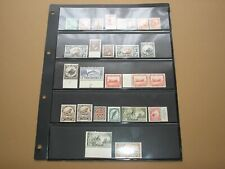 1935-1942  NEW ZEALAND Stamps KGVI PICTORIAL SET x25  SHADES & PERF MINT HINGED