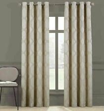 Brookstone Paxton 95 Inch Long Grommet Blackout Window Curtain Panel in Linen