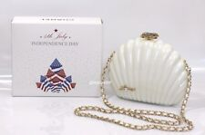 Chanel VIP Limited Fourth of July VIP Gift White Clam Shell Pearl Bag / Clutch
