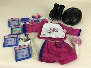 Amazing Ally Baby Doll Outfit In-Line Skating Helmet Skates Game Cards Vintage