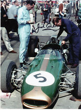 Jack BRABHAM main signé formule 1 8x6 photo.